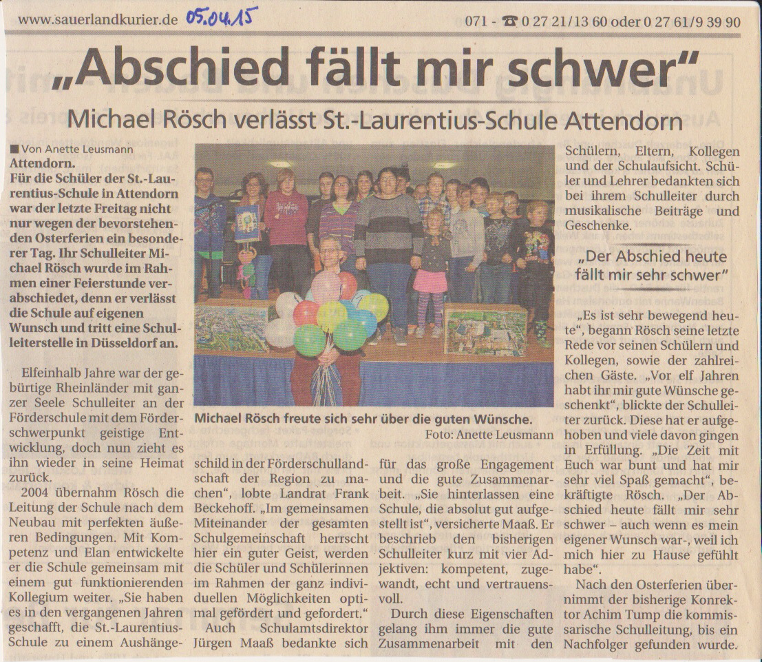 st. laurentius-schule attendorn | presse, Einladung