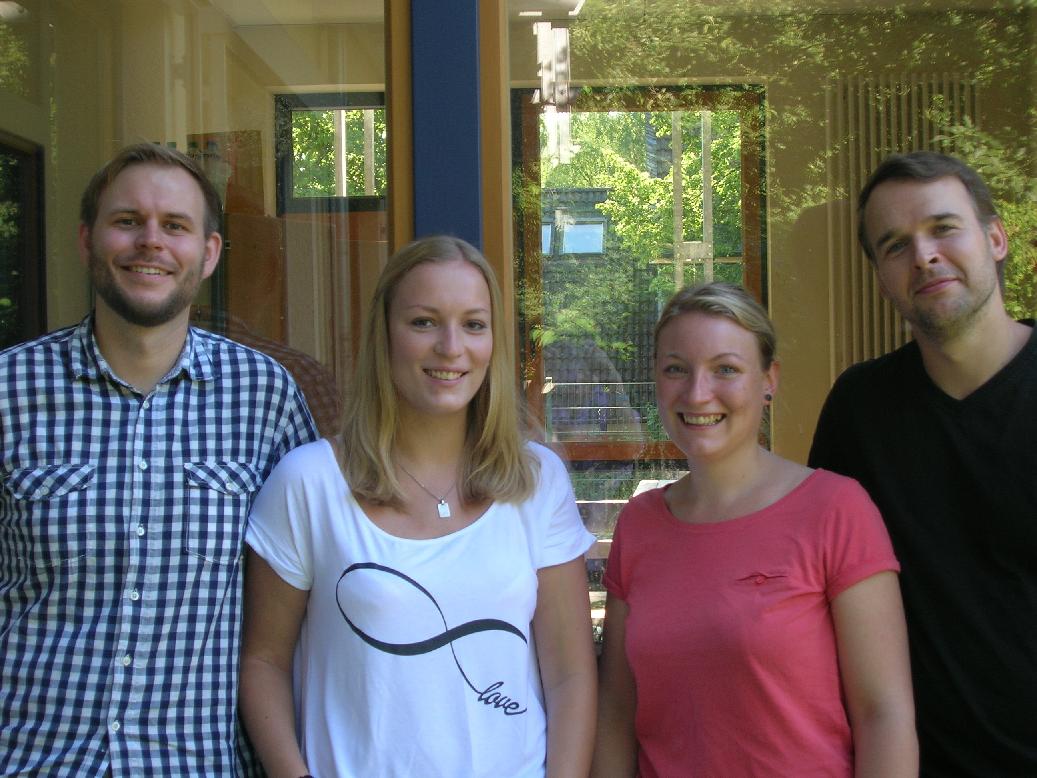 von links nach rechts: Thomas Kalla, Elena Keseberg, Franziska Schulte und Daniel Strehlow