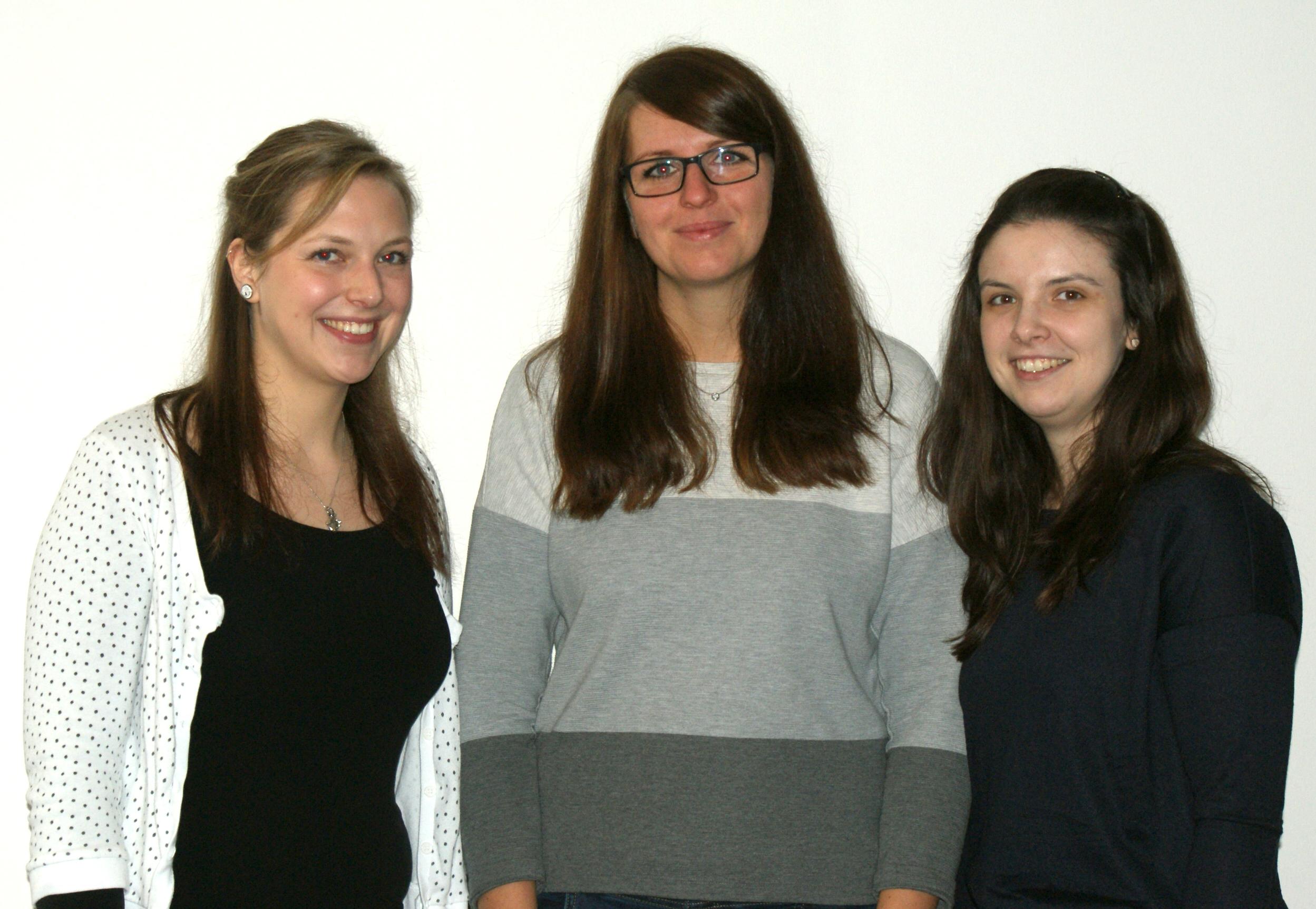 v.l.n.r.: Sarah-Katharina Schmidt, Anna Wilke, Carina Esser